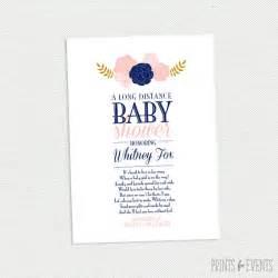 distance baby shower invitation vintage floral