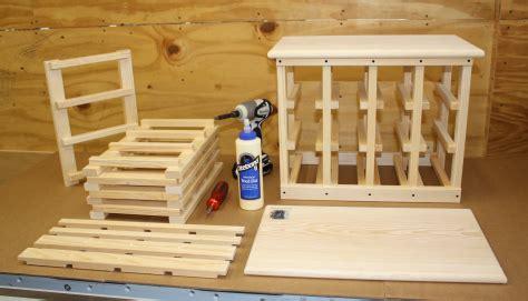 wine rack building kits diy  plans  cnc