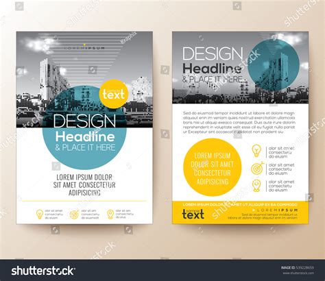 cover design elements poster flyer phlet brochure cover design stock vector