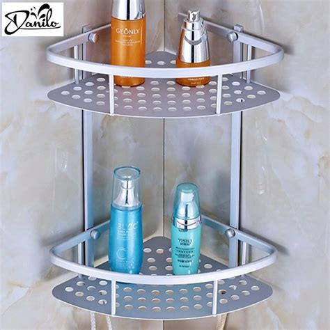 Bathroom Soap Accessories Aliexpress Buy Sale Space Aluminum Bathroom Shelf Two Layer Wall Mounted Shower