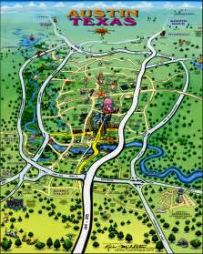Maps Austin by Austin Texas Tourist Map Austin Texas Mappery