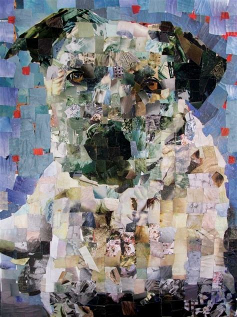 pictures  pooches created  hand cut magazines recyclenation