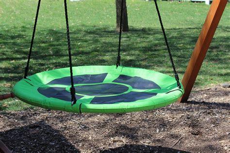 nest swing 100cm green round mat nest swing heavenly hammocks