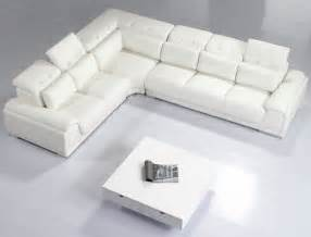 Vana modern leather sectional