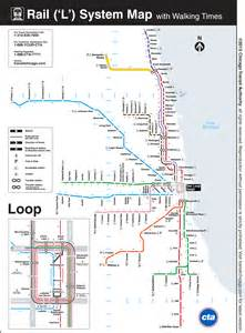L Train Chicago Map by This Map Shows The Walking Distance Between Cta L