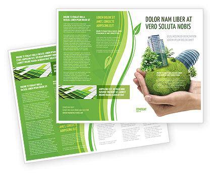 Green Habitat Brochure Template Design And Layout Download Now 07037 Poweredtemplate Com Environment Brochure Template