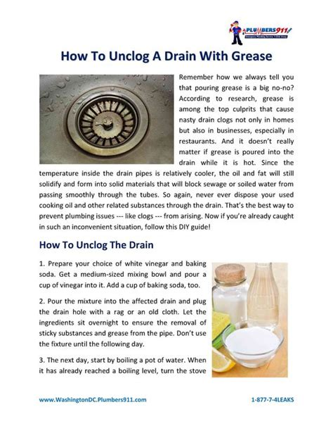 How To Unclog A Grease Clog In The Kitchen Sink Is Your Drain Suffering From A Bad Clog Check Out Our Pdf Guide And Find Out How To Unclog A