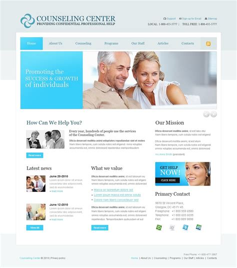 Counselling Websites Templates Counseling Website Template 28442