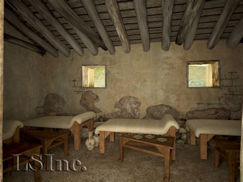 Ancient Dining Room by Vari House Greece Archaeological Recreations And