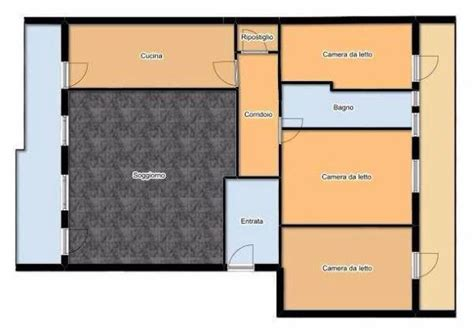 planimetria di un appartamento appartamento 100 mq idea di progetto
