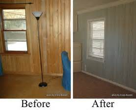 how to cover paneling before after wood paneling twobertis