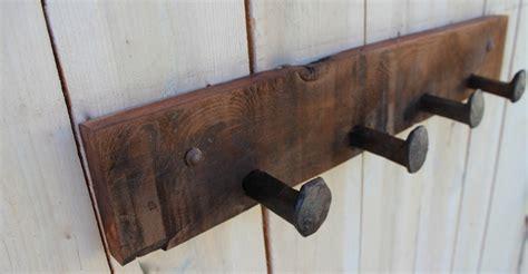 Railroad Spike Coat Rack by Railroad Spike Shelf Wooden Coat Rack 32 4 Spikes