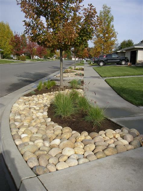 Pebbles And Rocks Garden Mexican Pebbles Bioswale Garden Pinterest Gardens The O Jays And Front Gardens