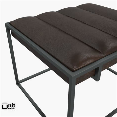west elm leather ottoman leather ottoman axis ii leather ottoman and a half