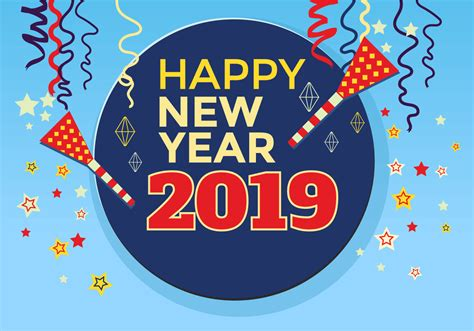 happy new year 2018 greeting card stock vector happy new year 2018 greeting card template free