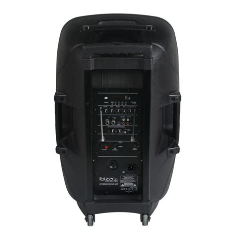 Speaker Portable Lifier Wireless Pa 15 E 15 Inch ibiza sound 15 quot hybrid portable pa speaker with vhf mics getinthemix