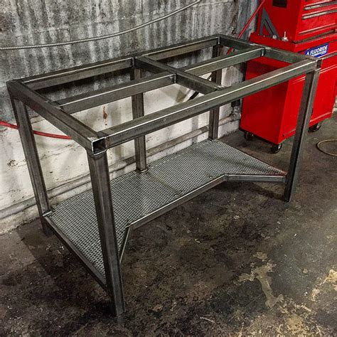 metal workshop benches welding table picture thread page 13 garage workshop