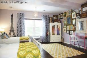Room makeover shared room paris themed room