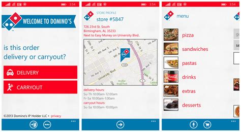 domino pizza app top rated fast food apps for windows phone windows central