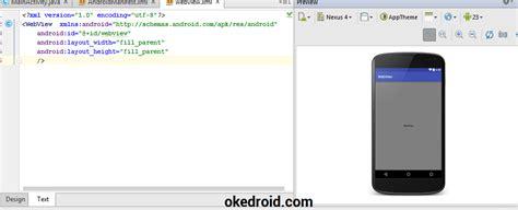 belajar layout android studio belajar cara membuat aplikasi webview di android studio