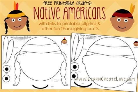 printable thanksgiving crafts for kindergarten printable native american crafts