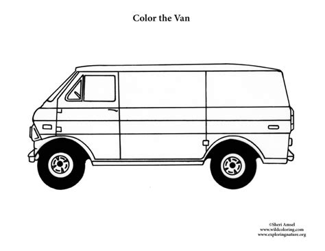 coloring page for van van coloring nature