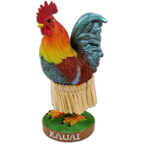 kauai chicken dashboard doll collectible hawaiian bobble