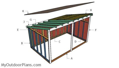 run  shed roof plans myoutdoorplans  woodworking
