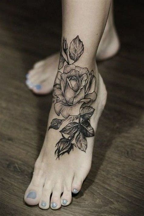 rose foot tattoos 100 of most beautiful floral tattoos ideas foot