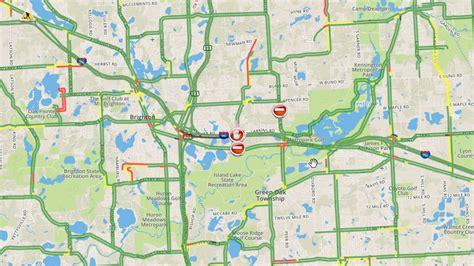 detroit traffic map demolition of pleasant valley bridge eb i 96 in