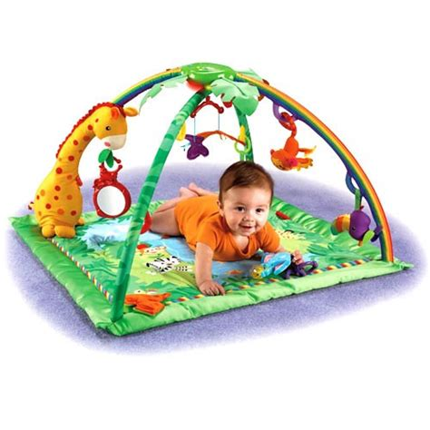 Rainforest Baby Play Mat by Tummy Time Play With Five Linkable Toys That Can Be