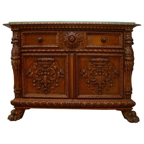 small credenza antique italian baroque carved wood small credenza