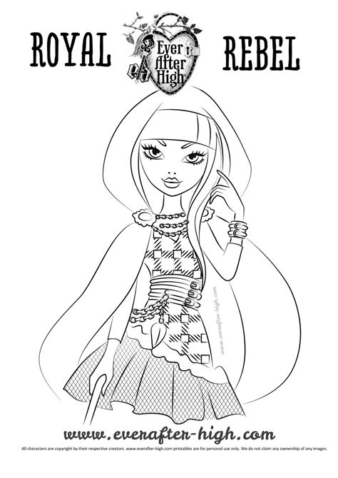 ever after high coloring pages cerise cerise hood coloring page ever after high