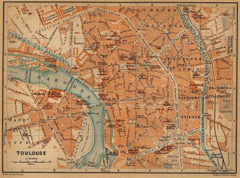 map of toulouse map of toulouse in 1914 cartography