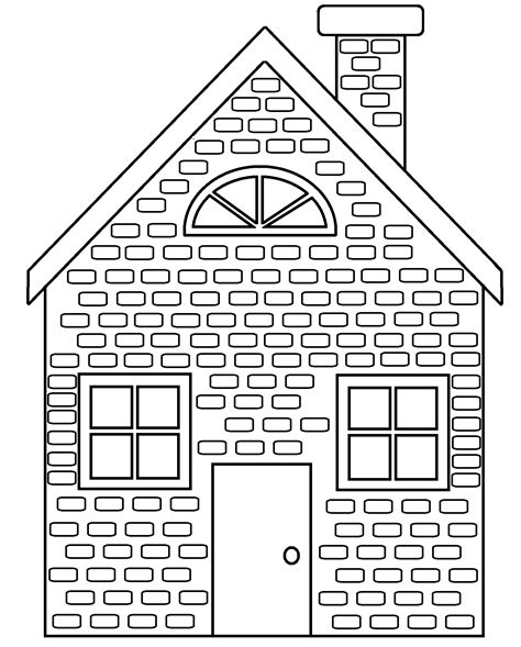 brick coloring page coloring home