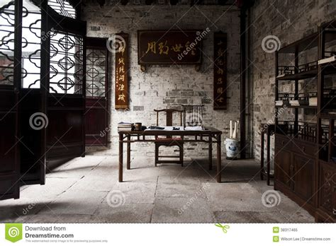 chinese study traditional chinese study room royalty free stock photo