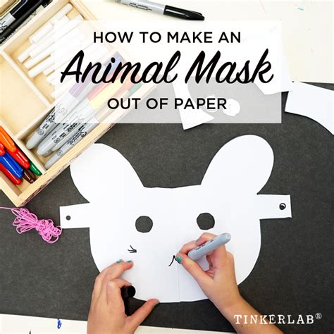 prompt how to make an animal mask out of paper