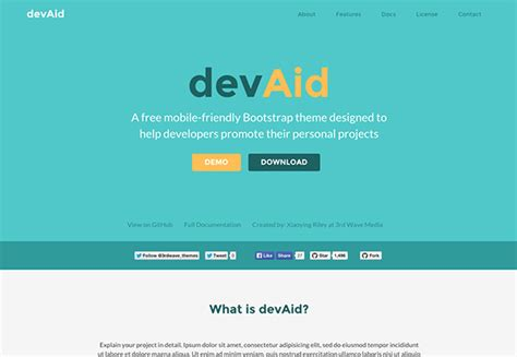 bootstrap color themes devaid free bootstrap 4 theme for developers side