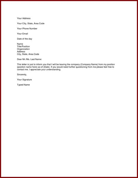Resignation Letters Exles by Sle Resignation Letter Best Templates