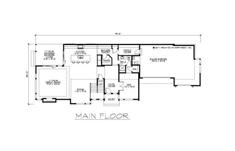 wide house floor plans 30 wide house plans