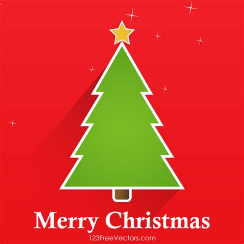 vector christmas tree greeting card design by