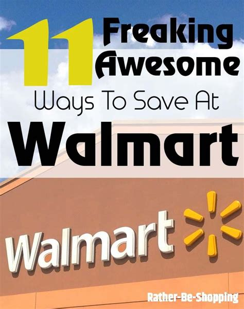 Freaking Money 11 freaking awesome ways to save money at walmart best