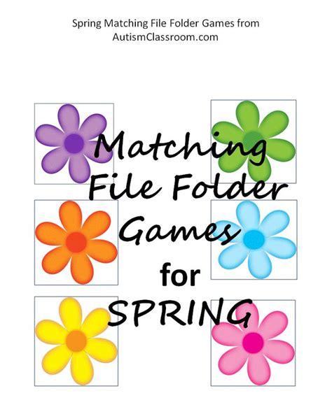flower pattern game autism file folder games spring matching umbrellas