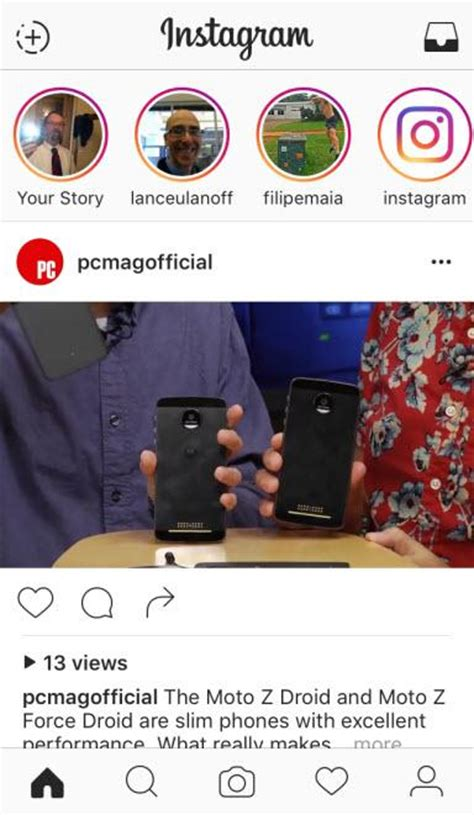 instagram screen layout instagram for iphone review rating pcmag com