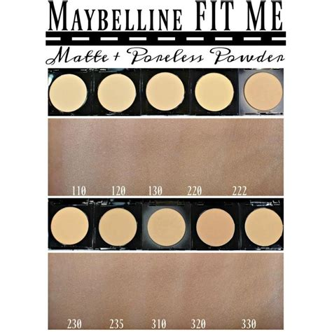 Bedak Maybelline Fit Me maybelline fit me matte poreless powder available 4
