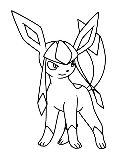 pokemon coloring pages glaceon pokemon glaceon coloring pages coloring pages