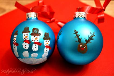 fingerprint snowmen ornaments