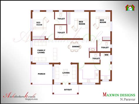 single floor kerala house plans architecture kerala 3 bhk single floor kerala house plan