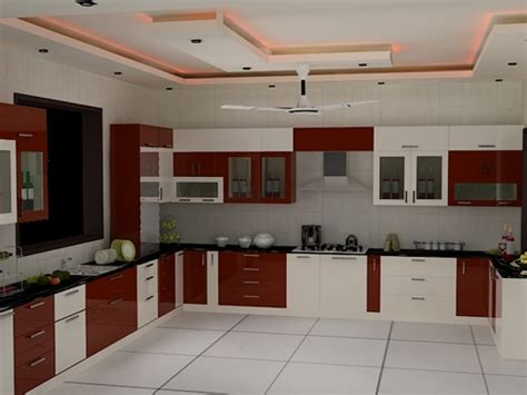 Best Kitchen Interiors example for your kitchen interior with modular furniture and chimney