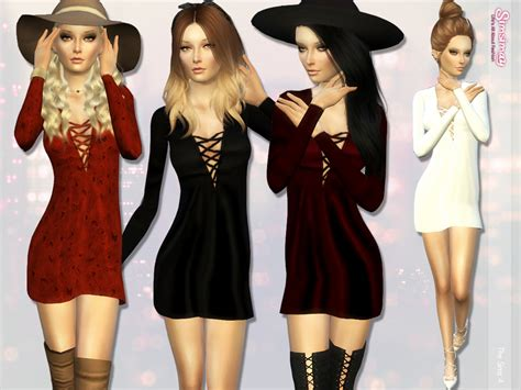 sims 2 clothing the sims resource simsimay s updated laced up hand painted a line dress
